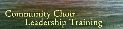 Community Choir Leadership Training
